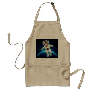 Cat astronaut - space cat - Cat lover Standard Apron