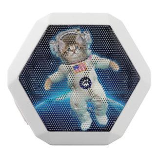 Cat astronaut - space cat - Cat lover White Bluetooth Speaker