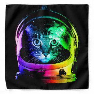 Cat astronaut - space cat - funny cats bandana