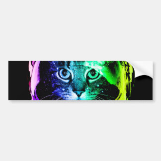 Cat astronaut - space cat - funny cats bumper sticker