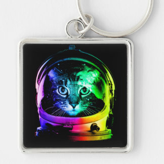 Cat astronaut - space cat - funny cats key ring