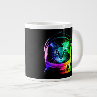 Cat astronaut - space cat - funny cats large coffee mug