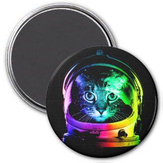 Cat astronaut - space cat - funny cats magnet