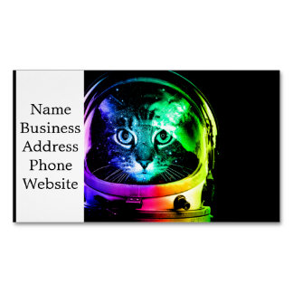Cat astronaut - space cat - funny cats Magnetic business card