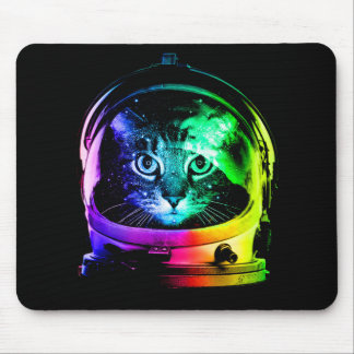 Cat astronaut - space cat - funny cats mouse pad