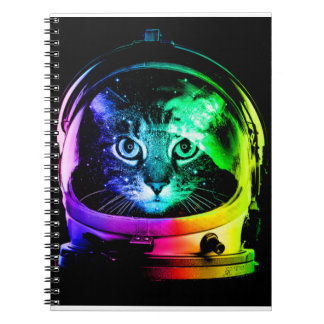 Cat astronaut - space cat - funny cats notebook