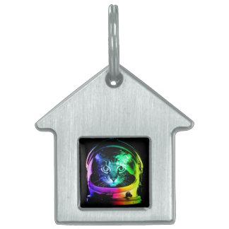 Cat astronaut - space cat - funny cats pet tag