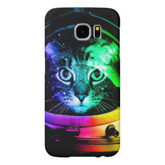 Cat astronaut - space cat - funny cats samsung galaxy s6 cases
