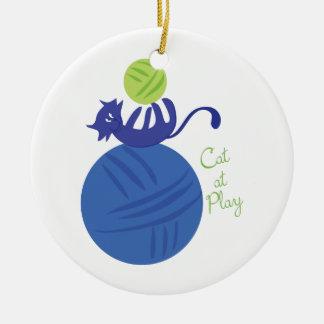 Cat At Play Christmas Ornaments
