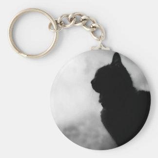 Cat ate Night Feline Animal cap Cat Puss Pussy Basic Round Button Key Ring