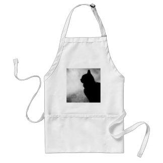 Cat ate Night Feline Animal cap Cat Puss Pussy Standard Apron