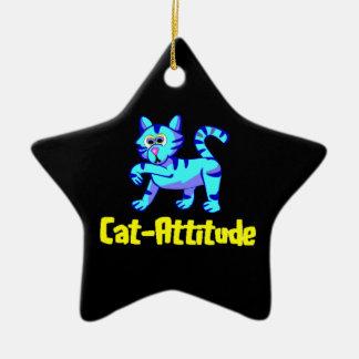 Cat-Attitude Ceramic Star Decoration