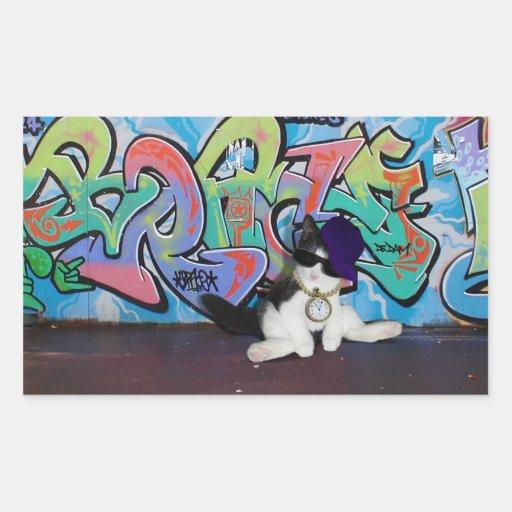 Cat Attitude.....Kitten and Graffiti Wall Sticker