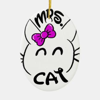 Cat baby ceramic ornament