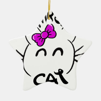 Cat baby ceramic star decoration