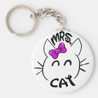 Cat baby key ring