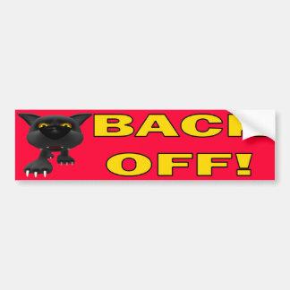 Cat: Back OFF! Bumper Sticker