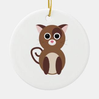 cat_base round ceramic decoration