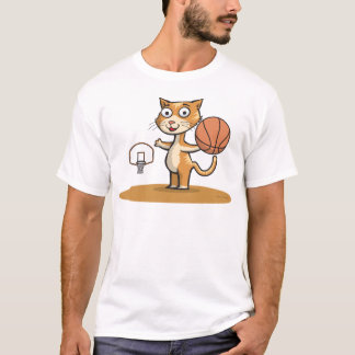 Cat Basketball T-Shirt