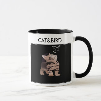 cat&bird mug