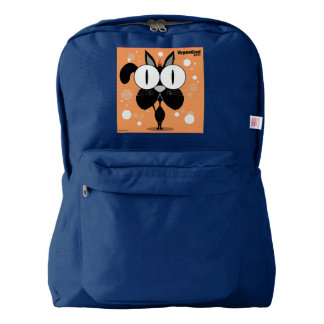 Cat(Black) Backpack, Navy Backpack