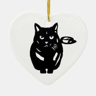 Cat black cat cat BLACK CAT cutting picture Christmas Tree Ornaments