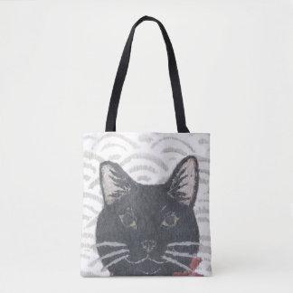 Cat, Black Cat Tote Bag