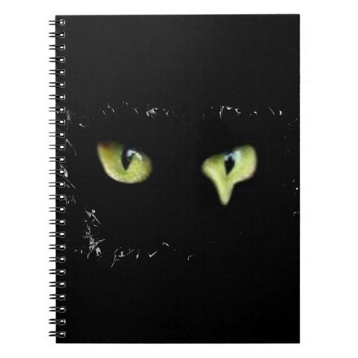 cat, black, eyes, notebook, fashion, funny