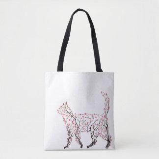 Cat Blossom Tote Bag