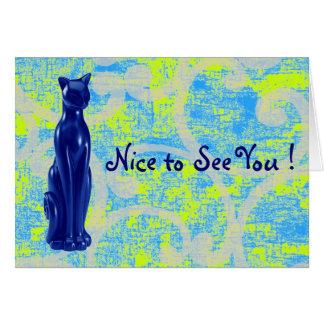 Cat Blue ~ Card