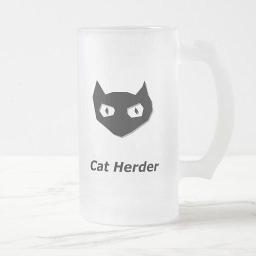 Cat Boo Cat Herder Coffee Mugs