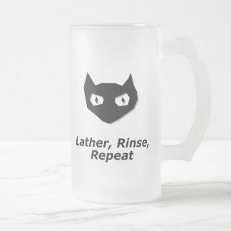 Cat Boo Lather Rinse Repeat Mugs