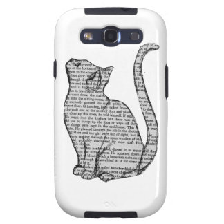 Cat Book Galaxy SIII Cases