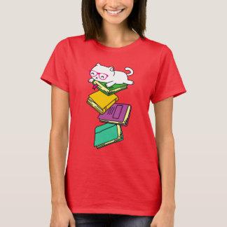 Cat Book Nerd Cute Feline Bookworm Geek Gift T-Shirt