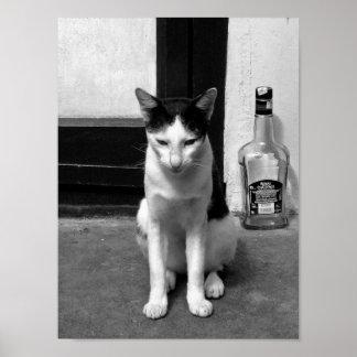 Cat & Booze Poster