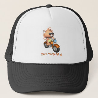 Cat - Born To Be Wild Trucker Hat
