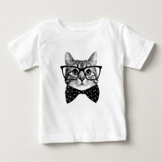 cat bow tie - Glasses cat - glass cat Baby T-Shirt