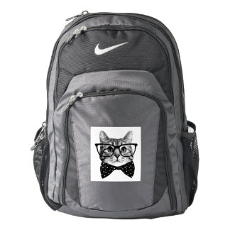 cat bow tie - Glasses cat - glass cat Backpack