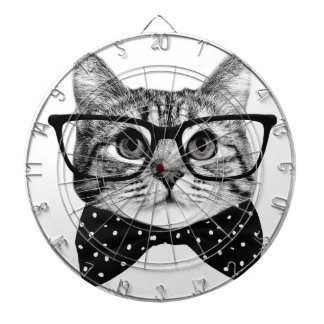cat bow tie - Glasses cat - glass cat Dartboard