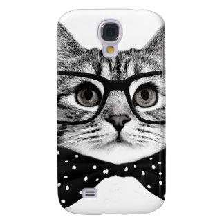 cat bow tie - Glasses cat - glass cat Galaxy S4 Case