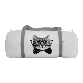 cat bow tie - Glasses cat - glass cat Gym Duffel Bag