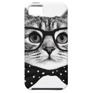 cat bow tie - Glasses cat - glass cat iPhone 5 Case