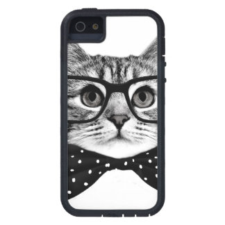 cat bow tie - Glasses cat - glass cat iPhone 5 Covers