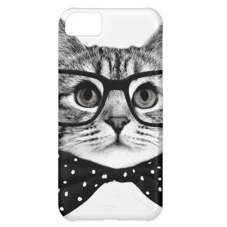 cat bow tie - Glasses cat - glass cat iPhone 5C Case