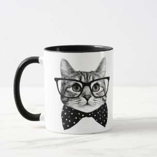 cat bow tie - Glasses cat - glass cat Mug