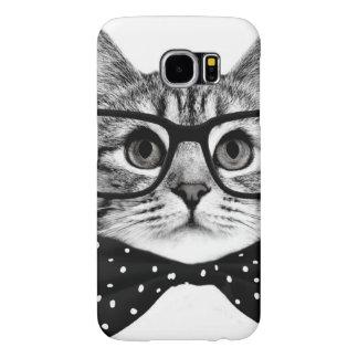 cat bow tie - Glasses cat - glass cat Samsung Galaxy S6 Cases