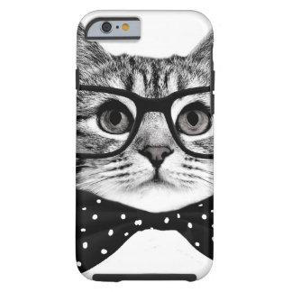 cat bow tie - Glasses cat - glass cat Tough iPhone 6 Case