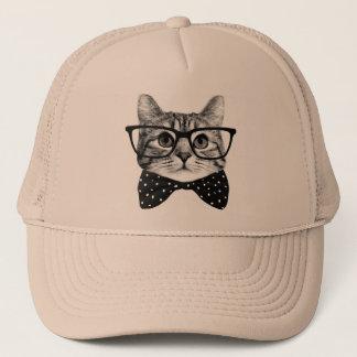 cat bow tie - Glasses cat - glass cat Trucker Hat