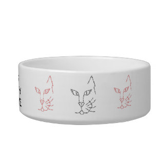 CAT BOWL - 'DOGS ANNOY ME'