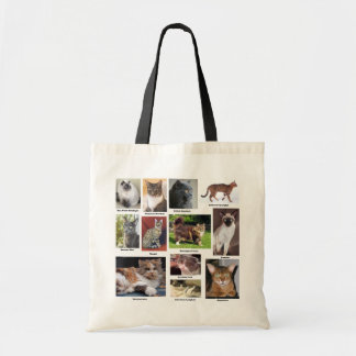 Cat Breeds Full Color Photo Totes